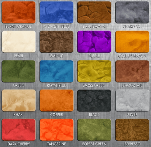 Metallic 3D FX Color Chart