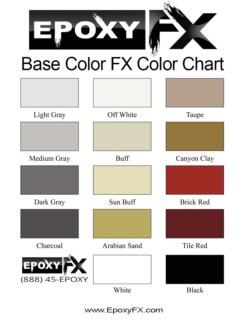 Base Color FX Color Chart
