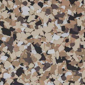 Saddle Tan B-517 Floor Flakes