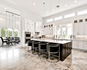 Luxurious Metallic Flooring